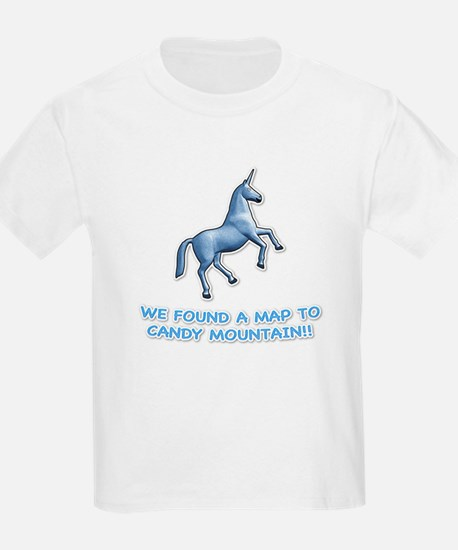 We found a map to Candy Mount Kids T-Shirt