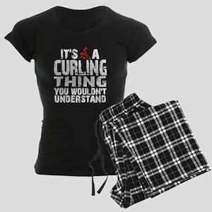 Curling Thing Women's Dark Pajamas