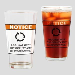Deputy / Argue Drinking Glass