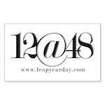 12@48 Sticker (Rectangle 50 pk)