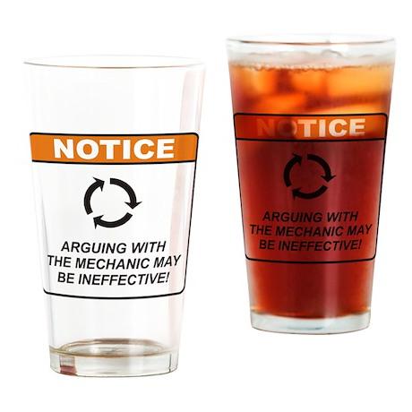 Mechanic / Argue Drinking Glass