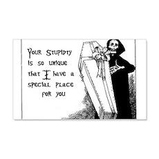 Stupidity 22x14 Wall Peel
