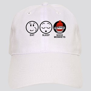 Eat Sleep Sock Monkeys Cap