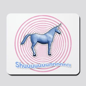 Shuuuunnn! Blue unicorn! Mousepad