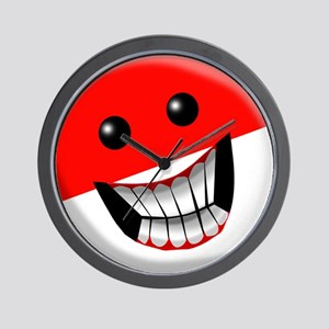 Indonesian Smiley Face Wall Clock
