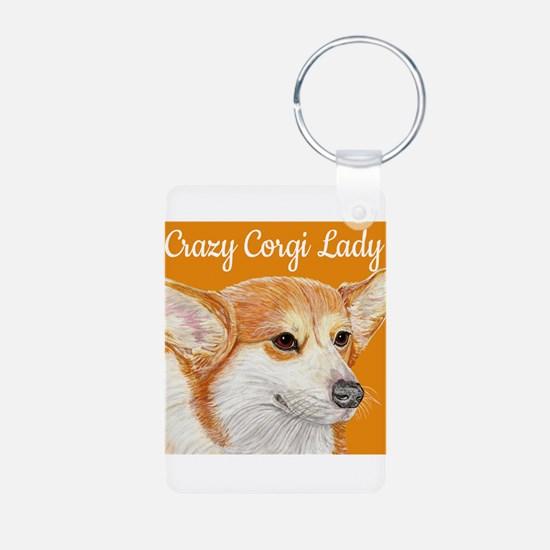 Crazy Corgi Lady Keychains