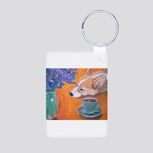 Coffee break Aluminum Photo Keychain
