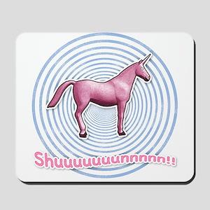 Shuuuunnn! Pink unicorn! Mousepad