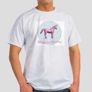 Shuuuunnn! Pink unicorn! Ash Grey T-Shirt