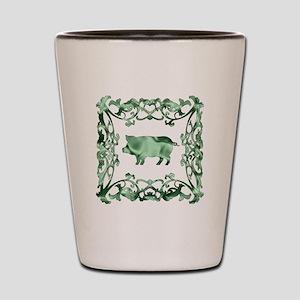 Pig Lattice Shot Glass