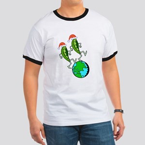 Christmas Peas on Earth Ringer T