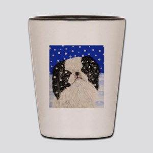Snowflakes japanese chin Shot Glass