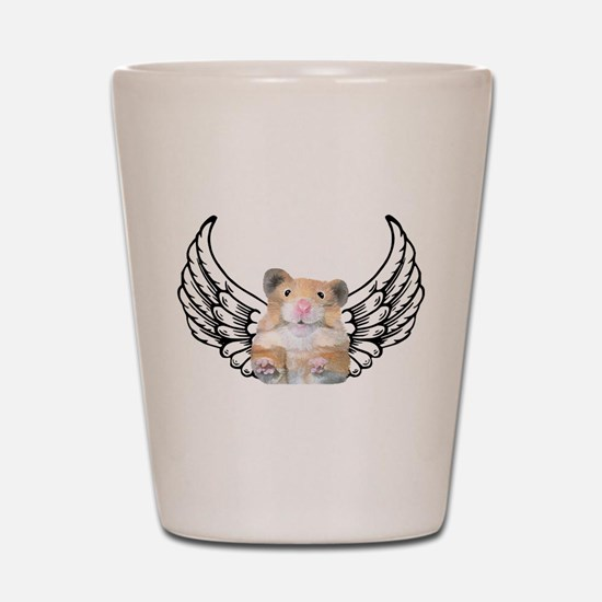 Hamster Angel Shot Glass