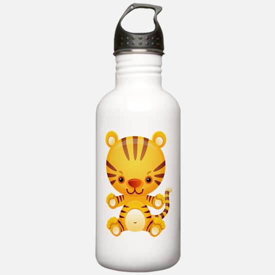 Cute Kawaii Tiger Water Bottle