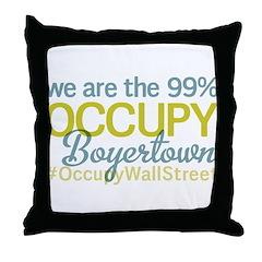 Occupy Boyertown Throw Pillow