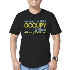 Occupy Biloxi Men's Fitted T-Shirt (dark)