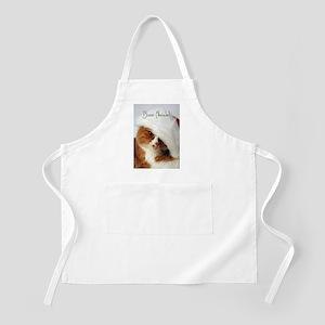Italian Greeting Cat Wearing Santa Hat Apron