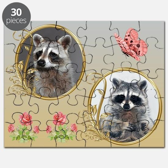 Raccoon Portrait Puzzle