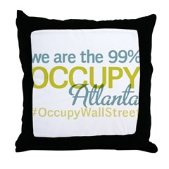 Occupy Atlanta Throw Pillow