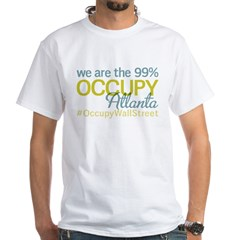 Occupy Atlanta White T-Shirt