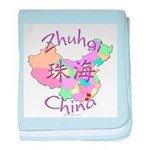 Zhuhai China Map baby blanket