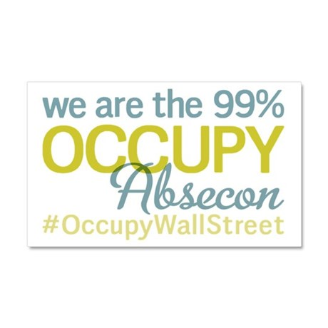 Occupy Absecon Car Magnet 20 x 12