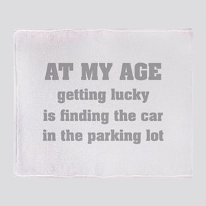 At My Age Throw Blanket