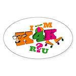 K4K Oval Sticker