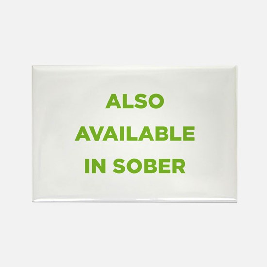 Also Available in Sober Rectangle Magnet