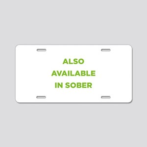 Also Available in Sober Aluminum License Plate