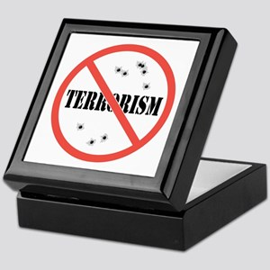 No Terrorism Keepsake Box