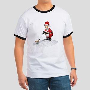 Golfing Santa Claus Ringer T