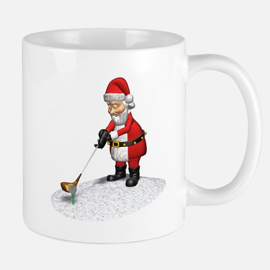 Golfing Santa Claus Mug