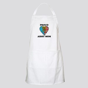 Army Mom Patriotic Heart BBQ Apron