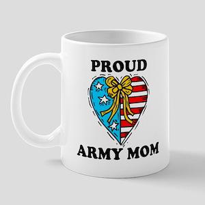Army Mom Patriotic Heart Mug