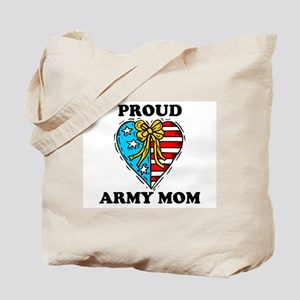 Army Mom Patriotic Heart Tote Bag