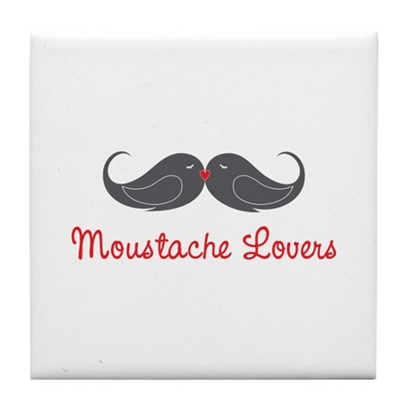 Moustache Lovers Tile Coaster