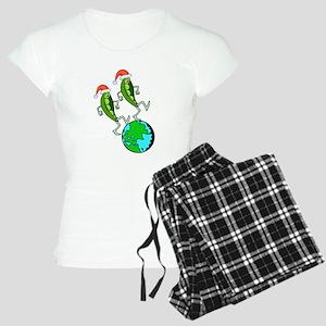 Christmas Peas on Earth Women's Light Pajamas