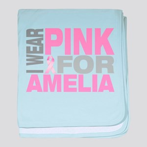 I wear pink for Amelia baby blanket