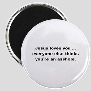 Jesus loves you ... Magnet