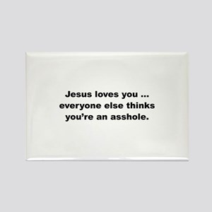 Jesus loves you ... Rectangle Magnet (10 pack)