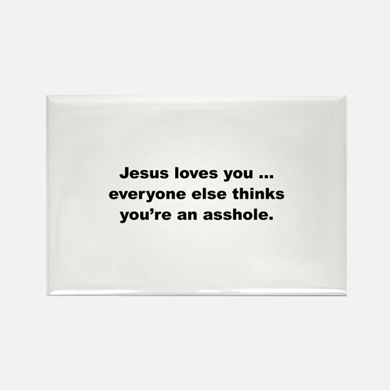 Jesus loves you ... Rectangle Magnet (10 pack)