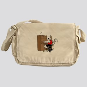 Piano Cat Apparel Messenger Bag