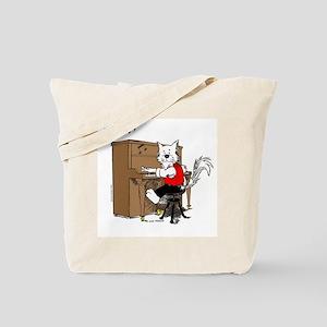 Piano Cat Apparel Tote Bag