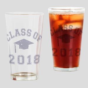 Class Of 2018 Graduation Drinking Glass