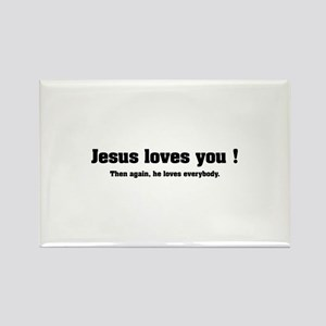 Jesus loves you ! Rectangle Magnet