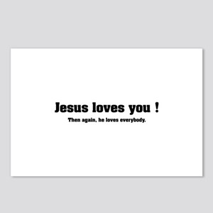 Jesus loves you ! Postcards (Package of 8)