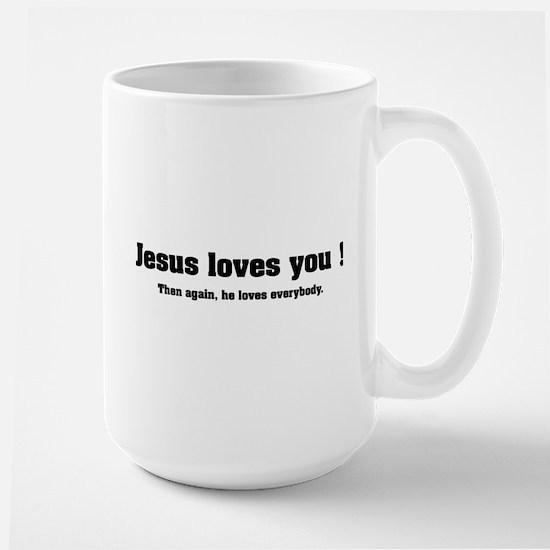 Jesus loves you ! Large Mug