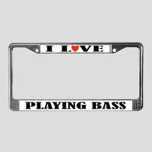 Bass Music Gift License Plate Frame