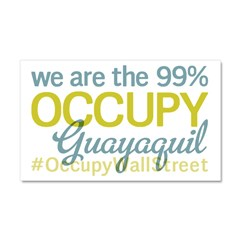 Occupy Guayaquil Car Magnet 20 x 12